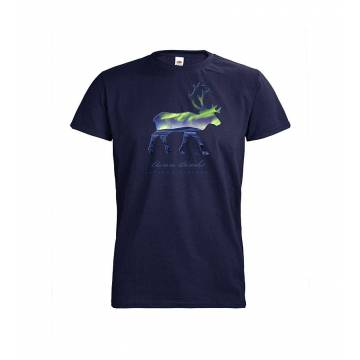 Syvänsininen DC Poron silhuetti, Aurora Borealis T-paita
