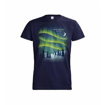 Syvänsininen DC Aurora Borealis Retro T-paita
