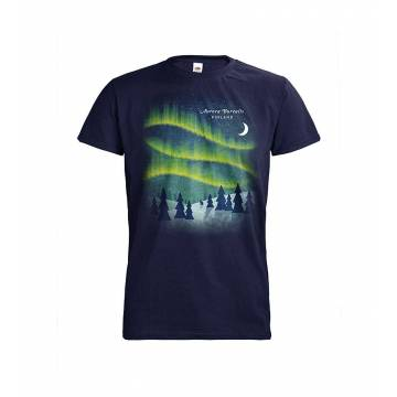 Deep Navy DC Aurora Borealis Retro T-shirt