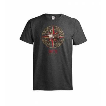 Dark melange gray DC Arctic Circle 66°N T-shirt
