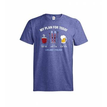 Retro Royal Heaher DC My Plan for Today T-shirt