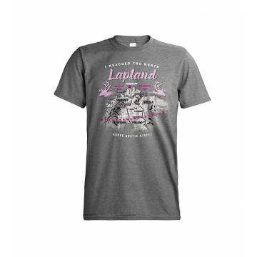 Graphite Heather I reached the North, Lapland T-shirt
