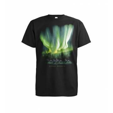 Musta Revontulet ja porot T-paita