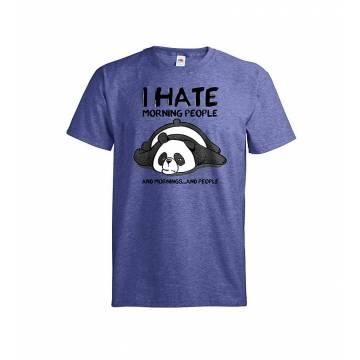 Meleerattu retro royal DC Panda I hate mornings T-paita