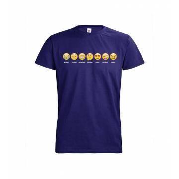 Cobalt blue DC Viikonpäivät Emojit T-paita