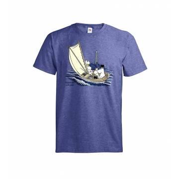 Meleerattu retro royal Muumit ja majakka, OurSea T-paita