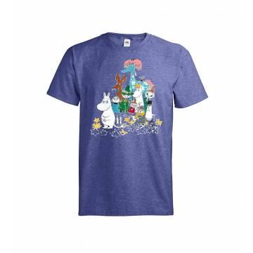 Meleerattu retro royal DC Muumit ja hevonen T-paita