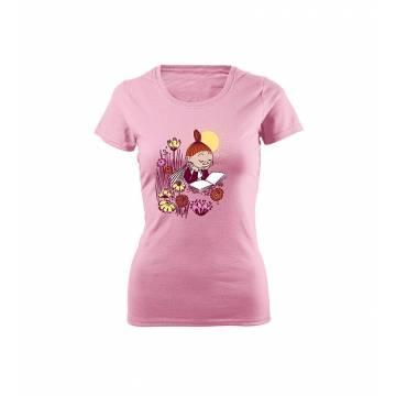 Vaaleanpunainen DC Mymmeli lukee Slim T-paita