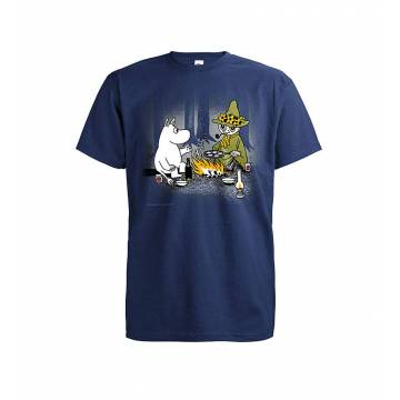 Navy Blue DC Moomin and snufkin by campfire