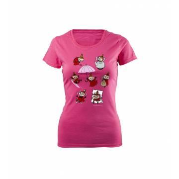 Meleerattu violetti Fotl Pikku Myy puuhailee Slim T-paita