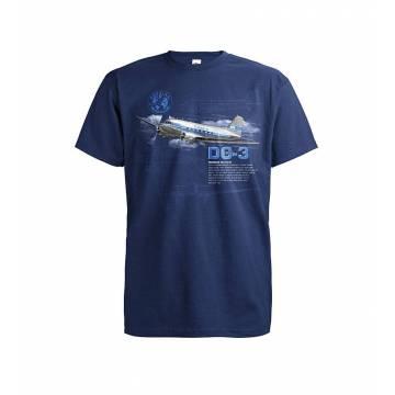 Tummansininen DC-3 Lokki T-paita
