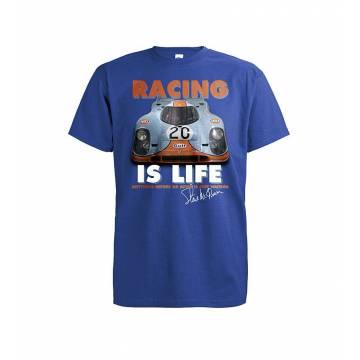 Royal Blue/White DC Racing is Life T-shirt