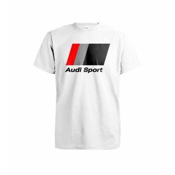 White DC Audi Sport T-paita