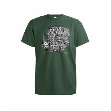 Bottle Green DC Honda CB 750 Engine T-shirt