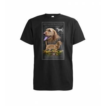 Musta DC Bretagnenbassetti T-paita