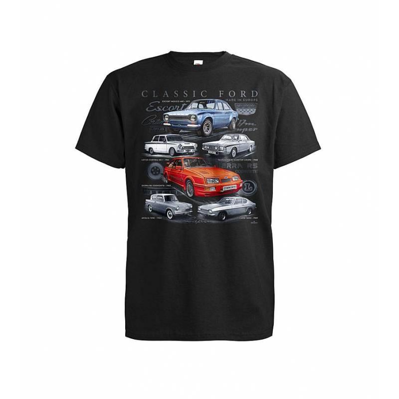 Black DC Classic Ford T-shirt