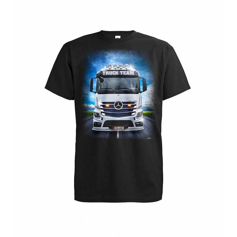 Musta DC Mersu Truck Team T-paita