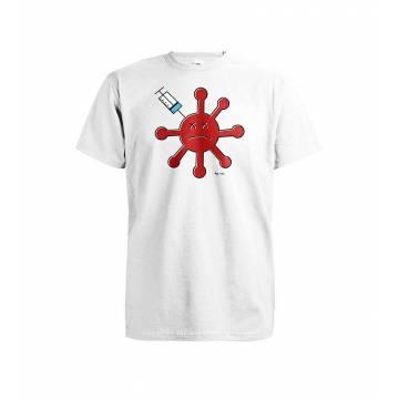 Valkoinen Korona rokotettu T-paita