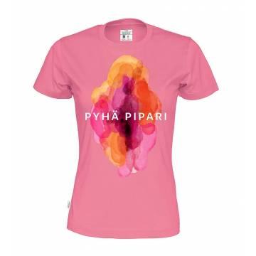 Vaaleanpunainen Pyhä Pipari Slim T-paita Luomupuuvillaa