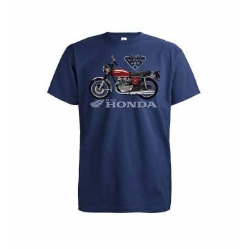 Tummansininen DC Honda CB 450 T-paita