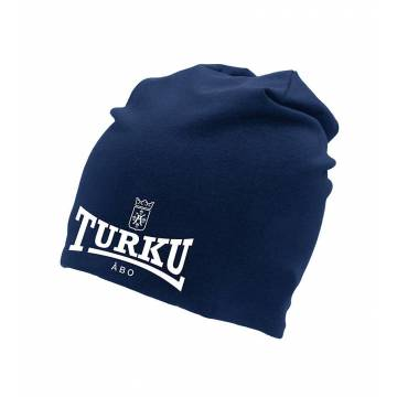 Navy Blue Turku coat of arms reflective Beanie