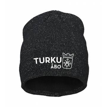 Black Turku coat of arms reflective Beanie