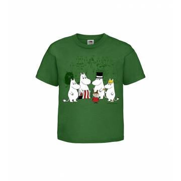Kelly Green The Moominvalley residents Kids T-shirt