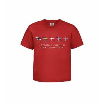 Punainen National colors... Lasten T-paita