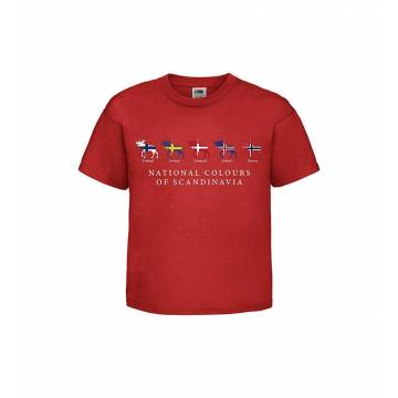 Red National colors KidsT-shirt