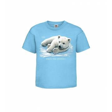 Azure Blue DC Polar bear cub  Kids T-shirt