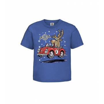 Royal Blue Rally reindeer, Lapland Kids T-shirt