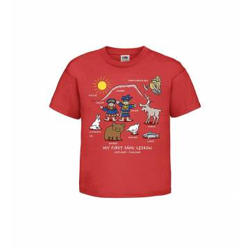 Red My first Sami lesson, Lapland Kids T-shirt