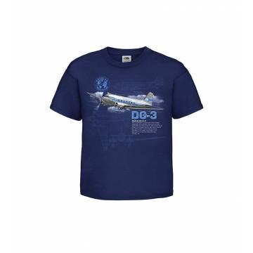 Navy Blue Digi DC-3 Kids T-shirt