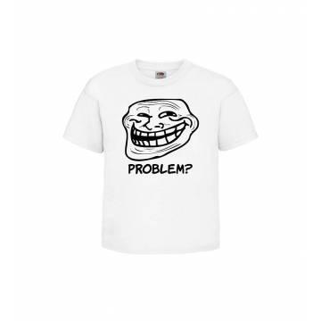 Valkoinen Trollface, Problem T-paita Lasten