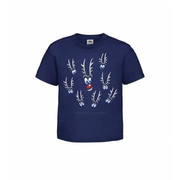 Syvänsininen Poronsilmät Lasten T-paita