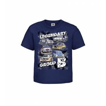 Tummansininen DC Group B Lasten T-paita