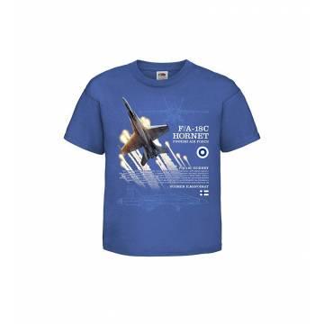 Royal Blue F/A-18 Hornet Kids T-shirt