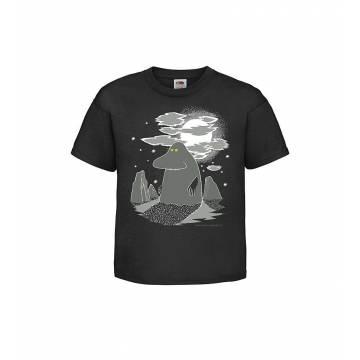 Musta DC Mörkö Lasten T-paita
