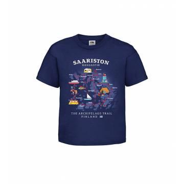 Navy Blue DC Saariston rengastie Lasten T-paita
