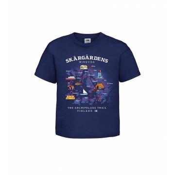 Navy Blue DC Skärgårdens ringväg Lasten T-paita