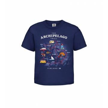 Tummansininen DC Archipelago Trail Lasten T-paita