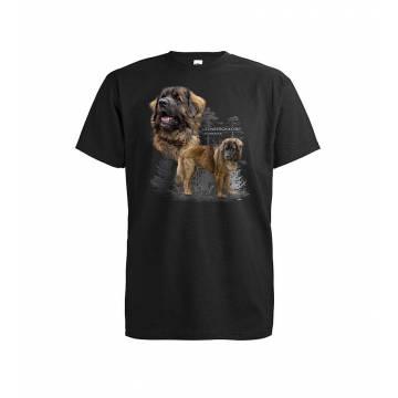 Musta Leonberginkoira T-paita