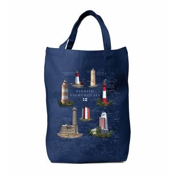 Navy Blue DC New Finnish Lighthouses Bag