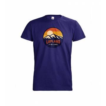 Cobaltin sininen DC Lapland Retro Ympyrä T-paita